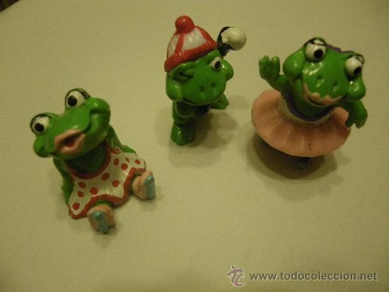 LOTE 3 FIGURAS KINDER RANAS (Juguetes - Figuras de Gomas y Pvc - Kinder)
