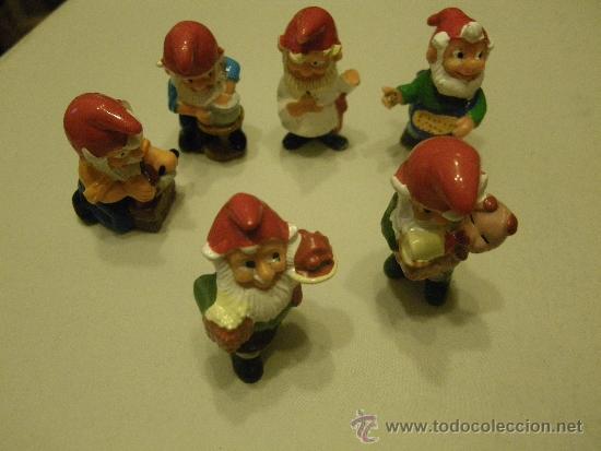 LOTE 6 FIGURAS KINDER ENANOS (Juguetes - Figuras de Gomas y Pvc - Kinder)