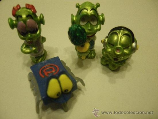 LOTE 4 FIGURAS KINDER MARCIANOS (Juguetes - Figuras de Gomas y Pvc - Kinder)