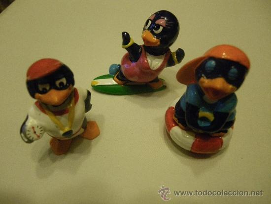 LOTE 3 FIGURAS KINDER PINGUINOS (Juguetes - Figuras de Gomas y Pvc - Kinder)