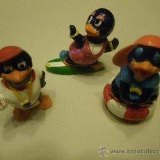Figuras Kinder: LOTE 3 FIGURAS KINDER PINGUINOS. Lote 34283061