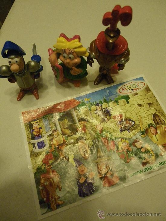 LOTE 3 FIGURAS KINDER MEDIEVALES (Juguetes - Figuras de Gomas y Pvc - Kinder)