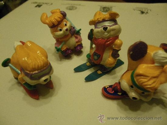 LOTE 4 FIGURAS KINDER PERROS (Juguetes - Figuras de Gomas y Pvc - Kinder)
