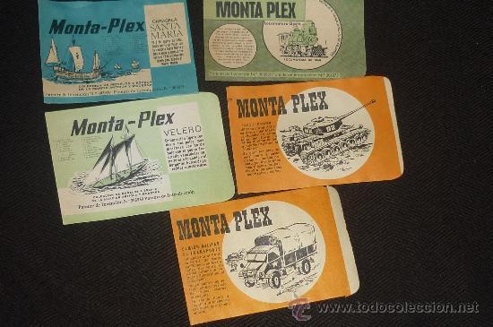 LOTE DE 5 SOBRES MONTAPLEX..ESTAN VACIOS PERO NUEVOS DE ANTIGUO ALMACEN.. (Juguetes - Figuras de Goma y Pvc - Montaplex)