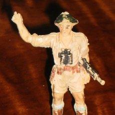 Figuras de Goma y PVC: OFICIAL DE INFANTERIA INGLESA AFRICANA - 2ª GUERRA MUNDIAL - PECH - PLASTICO - AÑOS 50. Lote 34296689