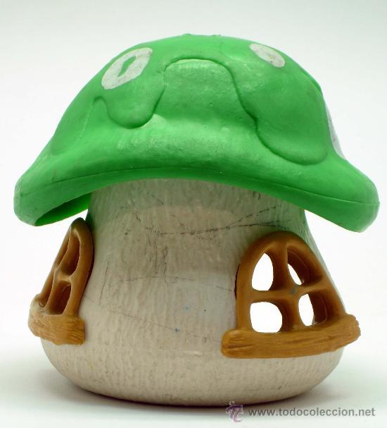 Figuras de Goma y PVC: Casa seta Los Pitufos Original Schlumpf Haus Schleich Peyo Made in West Germany - Foto 3 - 34402039