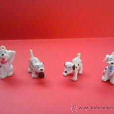 Figuras de Goma y PVC: LOTE 4 FIGURAS PERROS DÁLMATAS (GOMA - PVC) ¡COLECCIONISTA!. Lote 34509715