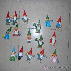 Figuras de Goma y PVC: 16 FIGURAS GNOMOS LOTE O TAMBIEN SUELTAS. PREGUNTAR PRECIO SUELTAS. Lote 34847462
