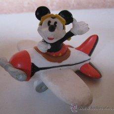 Figuras de Goma y PVC: MICKEY MOUSE EN AVIONETA - FIGURA DE PVC - WALT DISNEY - APPLAUSE.. Lote 34816700