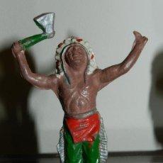 Figuras de Goma y PVC: ANTIGUA FIGURA DE INDIO, LAFREDO, COMO PUEDE VERSE.. Lote 34864201