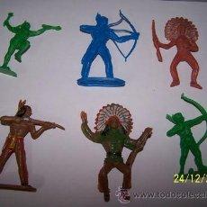 Figuras de Goma y PVC: LOTE FIGURAS DE GOMA INDIOS . Lote 35050929