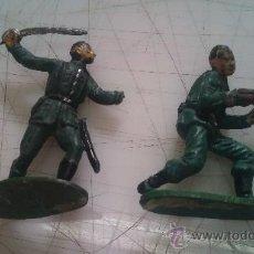 Figuras de Goma y PVC: FIGURAS ANTIGUAS SOLDADOS COMANSI O OTRA MARCA. Lote 35172420