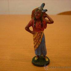 Figuras de Goma y PVC: ELASTOLIN FIGURA DE INDIA AÑOS 40-50 ARCLA. Lote 35300053