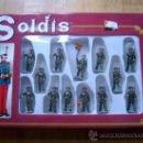 Figuras de Goma y PVC: CAJA NUEVA, COMPLETA Y PERFECTA DE SOLDIS - GUARDIA CIVIL - REF. 709 - SOLDADITOS GOMARSA - REAMSA. Lote 46625027