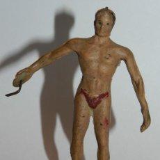 Figuras de Borracha e PVC: ANTIGUA FIGURA DE TARZAN DE GOMA DE ARCLA CON ALAMBRE - COMPLETAMENTE ORIGINAL TODO - EXCEPCIONAL -. Lote 35305846