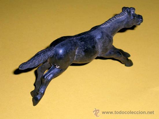 Figuras de Goma y PVC: Caballo oeste, fabricado en goma por la casa Reamsa, original años 50. - Foto 2 - 35360783