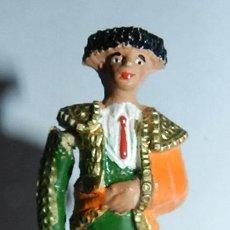 Figuras de Goma y PVC: ANTGIUO TORERO DE LA CORRIDA DE TEIXIDOR EN GOMA AÑOS 60. REALIZANDO EL PASEILLO, .. Lote 35391266