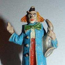 Figuras de Goma y PVC: PAYASO DEL CIRCO CON SAXO DE JECSAN, AÑOS 60, TAL Y COMO SE VE EN LAS FOTOGRAFIA.. Lote 35407859
