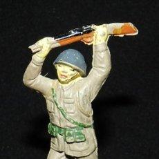Figuras de Goma y PVC: ANTIGUO SOLDADO JAPONES EN GOMA DE JECSAN, AÑOS 50, TAL Y COMO SE VE EN LA FOTOGRAFIAS PUESTAS.. Lote 35425671