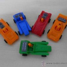 Figuras de Borracha e PVC: LOTE DE 5 COCHES . Lote 35607983
