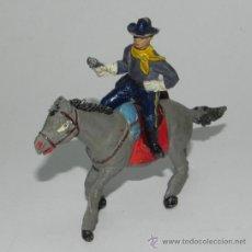 Figuras de Goma y PVC: ANTIGUA FIGURA JINETE Y CABALLO DE JECSAN, SERIE DESCABEZADO, REALIZADO EN GOMA.. Lote 35667024