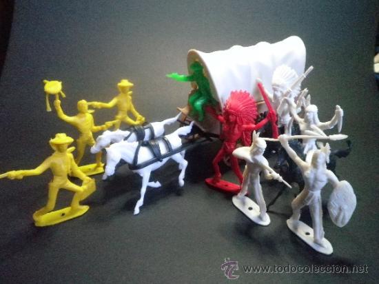 Figuras de Goma y PVC: LA CARAVANA DEL OESTE DE COMANSI NOVOLINEA - NUEVO - AÑOS 70 - Foto 6 - 109593560