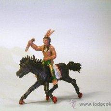 Figuras de Goma y PVC: LAFREDO. INDIO A CABALLO, CON PUÑAL. AÑOS 50. Lote 35729905