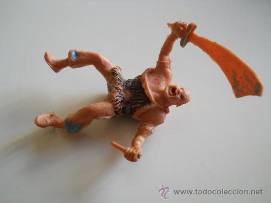 Figuras de Goma y PVC: ESTEREOPLAST : FIGURA DEL COSACO VERDE - KARAKAN - ORIGINAL AÑOS 60 - Foto 3 - 35825703