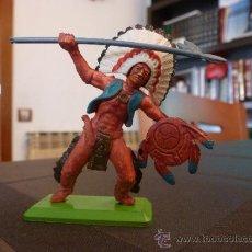 Figuras de Goma y PVC: BRITAINS INDIO-ESCALA 1/35-1/32(54/60MM).. Lote 35843473
