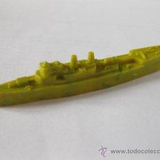 Figuras de Goma y PVC: BARCO DE GUERRA DE KIOSKO - 7 CMS DE LARGO - AMARILLO 2 - MONTAPLEX. Lote 35877474