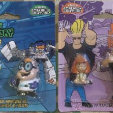 Figuras de Goma y PVC: CARTOON NETWORK JOHNNY BRAVO & DEXTER PACK. Lote 35902873