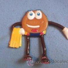 Figuras de Goma y PVC: GALLETA DE PVC DORADITA..PLAYA. Lote 36019300