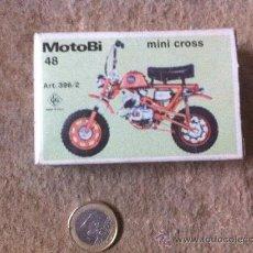 Figurines en Caoutchouc et PVC: CAJA PARA MONTAR MOTO MOTOBI. Lote 36148946