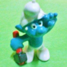 Figuras de Goma y PVC: FIGURA PVC - LOS PITUFOS - PITUFO TRABAJADOR CON MARTILLO - SIN MARCA - SIN ESTRENAR - AÑOS 80 - R-X. Lote 36272752