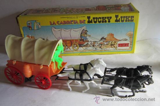CARRETA LUCKY LUKE REF 701, DE COMANSI, EN CAJA. CC (Juguetes - Figuras de Goma y Pvc - Comansi y Novolinea)