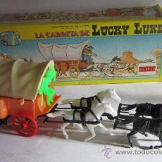 Figuras de Goma y PVC: CARRETA LUCKY LUKE REF 701, DE COMANSI, EN CAJA. CC. Lote 36327154