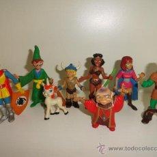 Figuras de Goma y PVC: LOTE 8 DRAGONES Y MAZMORRAS FIGURAS 80 COMICS SPAIN. Lote 96316024