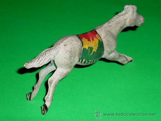 Figuras de Goma y PVC: Figura caballo indio, fabricado en goma por la casa Reamsa, original años 50. - Foto 2 - 36427659