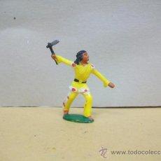 Figuras de Goma y PVC: RARO INDIO MICHEL - STARLUX - FIGURA AÑOS 60 - PARA 60 MM.. Lote 36491217