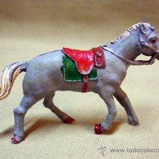 Figuras de Goma y PVC: FIGURA DE GOMA, CABALLO OESTE, FABRICADO POR LAFREDO 1960S, P/FIGURA DE 5,5 CM.. Lote 36813551