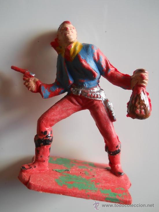 PECH HERMANOS VAQUERO COWBOY BANDIDO FIGURA Nº 103 DEL CATALOGO ORIGINAL 100% AÑOS 60 (Juguetes - Figuras de Goma y Pvc - Pech)