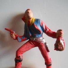 Figuras de Goma y PVC: PECH HERMANOS VAQUERO COWBOY BANDIDO FIGURA Nº 103 DEL CATALOGO ORIGINAL 100% AÑOS 60 . Lote 36887855