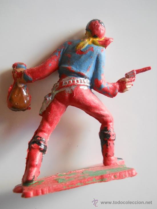 Figuras de Goma y PVC: PECH HERMANOS VAQUERO COWBOY BANDIDO FIGURA Nº 103 DEL CATALOGO ORIGINAL 100% AÑOS 60 - Foto 2 - 36887855