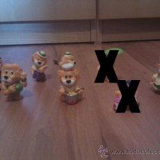 Figuras Kinder: FIGURAS KINDER SORPRESA - PACK 5 LEONES. Lote 33926463