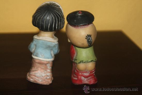 Figuras de Goma y PVC: pareja de muñecos flan mandarin - Foto 2 - 251929830
