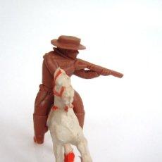 Figuras de Goma y PVC: SOTORRES JINETE MARRON Y CABALLO ALCA-CAPELL. Lote 37175948