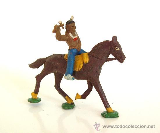 ALCA CAPELL INDIO HACHA+ CABALLO MARRON REF.2740 (Juguetes - Figuras de Goma y Pvc - Capell)