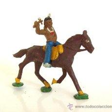 Figuras de Goma y PVC: CAPELL INDIO HACHA+ CABALLO MARRON REF.2740. Lote 27083052
