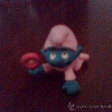 Figuras de Goma y PVC: LOS PITUFOS. PITUFO ROSA. FIGURA DE GOMA.. Lote 37219083
