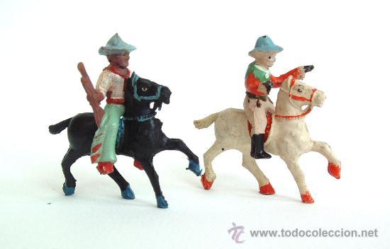 DOS VAQUEROS A CABALLO ALCA- CAPELL (Juguetes - Figuras de Goma y Pvc - Capell)